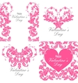 set valentines day greeting cards vector image vector image