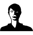 simple casually drawn portrait a young man vector image