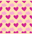 simple red heart sharp seamless pattern and vector image vector image
