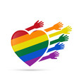Solidarity gay people vector image