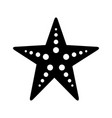 starfish sea life icon vector image vector image
