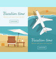 summer vacation and tourism vector image vector image
