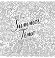 Summertime Handwritten phrase on an abstract vector image vector image