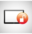tablet technology icon protection web vector image vector image