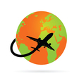trip around the world with the plane vector image vector image