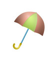 umbrella isolated on white background vector image