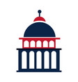 united states elections capitol building vector image vector image