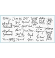 Wedding Lettering photography overlay set vector image vector image