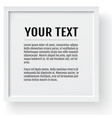 white modern frame mockup place for text photo vector image vector image
