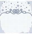 winter background card for design vector image