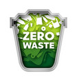 zero waste concept layered paper cut style vector image