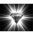 Shiny bright diamond vector image
