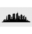 City icon town Silhouette vector image