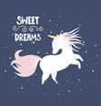 cute magical unicorn hand drawn elements for your vector image