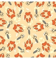 Cartoon seamless pattern with animal footprints vector image