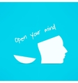 Open your mind design Free your mind Creative vector image