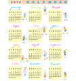 2013 calendar kids vector image vector image