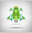 abstract geometrical style frog vector image