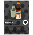 alcohol color isometric poster vector image vector image