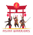 asian warriors concept vector image vector image