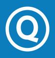basic font letter q icon design vector image vector image