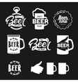 Beer related typography set vintage