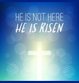 bible verse he is not here vector image