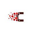 c letter pixel logo icon design vector image