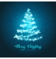 Christmas shining tree vector image vector image