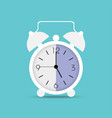 clock icon in trendy flat style alarm clock wake vector image vector image