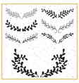 collection of hand drawn floral borders vector image