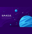 colorful outer space abstract background design vector image
