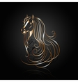 copper abstract horse