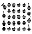 cupcake symbols vector image vector image