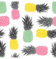 cute pastel geometric pineapples pattern vector image
