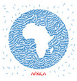 decorations map of africa vector image