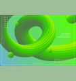 dynamic wavy fluid texture gradient green and vector image vector image