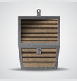 empty wooden chest vector image vector image