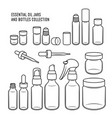 essential oil jars and bottles design set vector image
