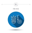 Fire hose reel icon Firefighters station sign vector image vector image