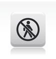 forbidden access icon vector image vector image