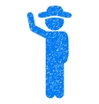 Gentleman Hitchhike Grainy Texture Icon vector image vector image