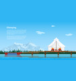glamping concept banner vector image vector image