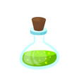 glass beaker with a poisonous liquid image vector image vector image