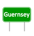 Guernsey road sign vector image