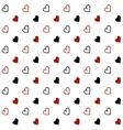 Hand drawn doodle hearts Seamless pattern vector image vector image