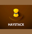 haystack isometric icon isolated on color vector image vector image