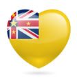Heart icon of Niue vector image vector image