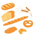 Homemade bread collection vector image vector image