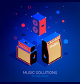 isometric music equipment 3 vector image vector image